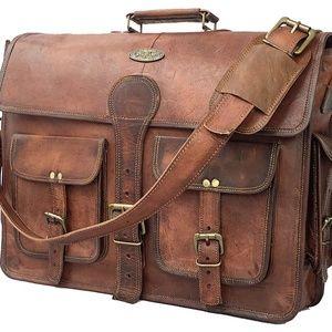 Other - 18 Inch Vintage Handmade Leather Messenger Bag